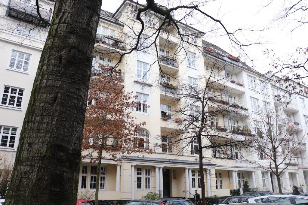 Wohnhaus von Detlef Aberle, Gryphiusstraße 5 in Hamburg/ Foto: Corinna Below