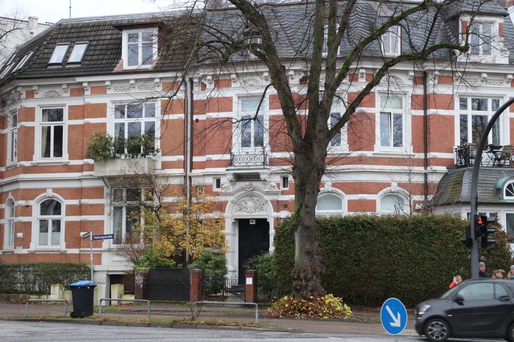 Das Haus der Schwestern Lehmann in der Heilwigstraße 46 in Hamburg/ Foto: Corinna Below