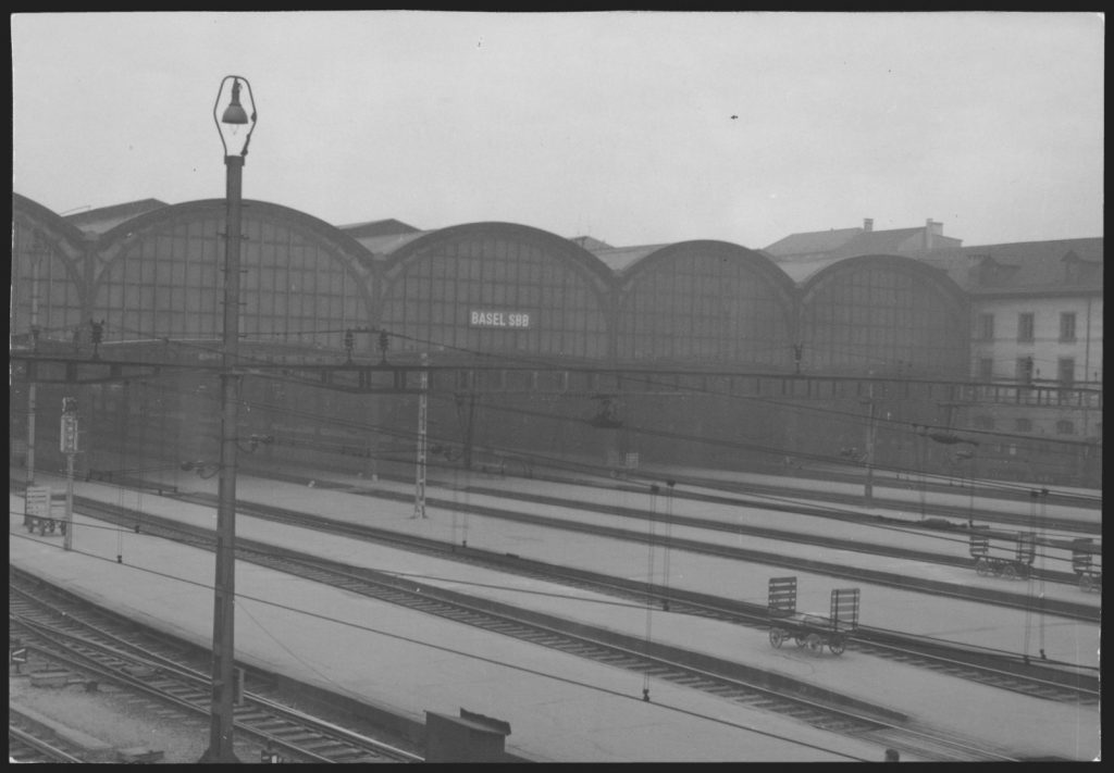 Basel SBB im April 1960/ Quelle: SBB Historic