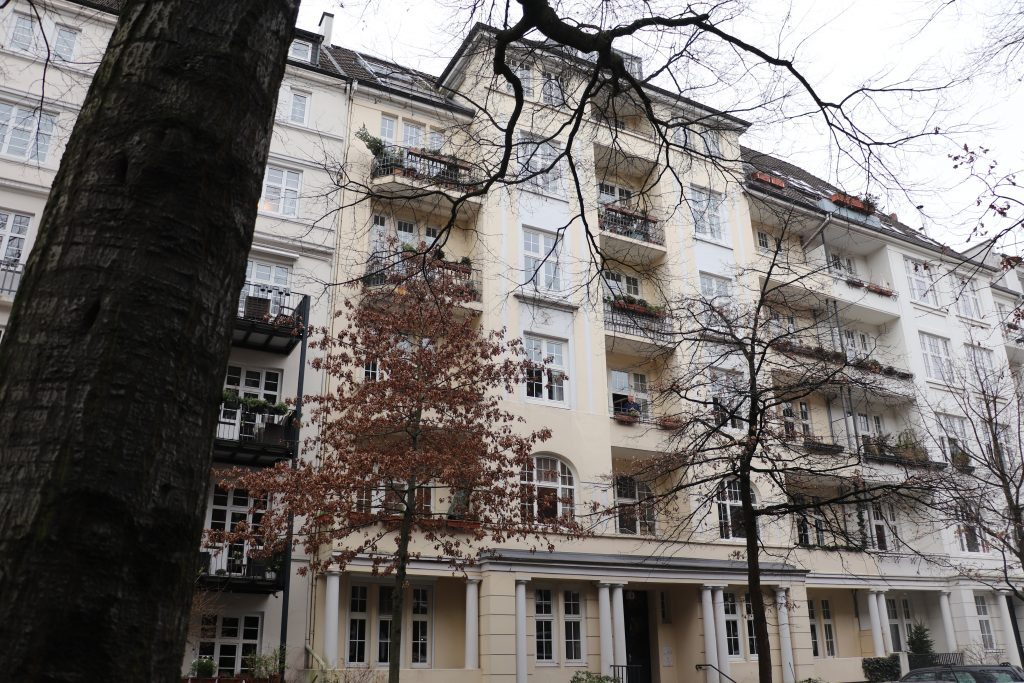 ehemaliges Wohnhaus der Familie Aberle in Hamburg, Gryphiusstraße 5/ Foto: Corinna Below