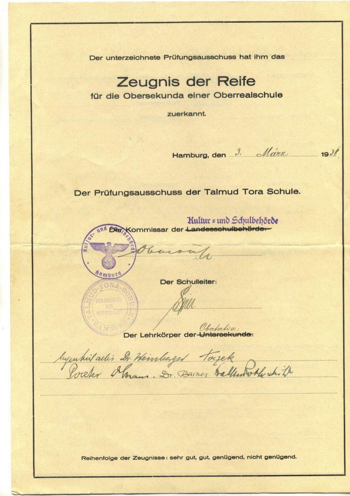 Detlef Aberles Abschlusszeugnis, S. 2/ Quelle: Detlef Aberle